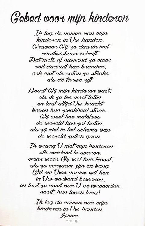 een gebed tekst