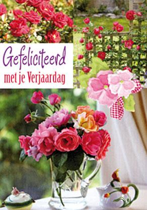 bloemen gefeliciteerd Dubbele kaarten Bloemen Hartelijk Gefeliciteerd   1036 bloemen gefeliciteerd